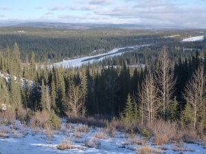 Leaving the Athabasca watershed