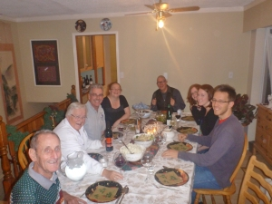 Christmas dinner in Fort Nelson