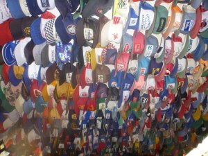 Hats in Toad River Lodge