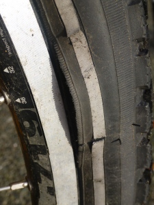 Bulge in front tire